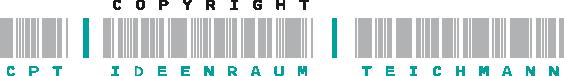 CPT Teichmann Logo aus Barcode-Schrift